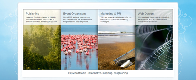 Haywood Media are Publishers of digital and printed magazines as well as directories. We also organise Wellbeing in the Workplace events.
